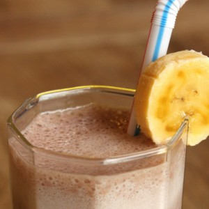 Chocolate Banana Mocha Protein Smoothie