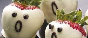 Healthy Halloween - Strawberry Ghosts