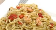 Low-Fat, Low-Calorie Lemon Shrimp Pasta